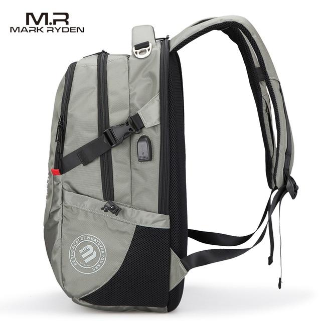 Mark Ryden Men's Backpack Fashion Multifunction USB Charging Men 15inch Laptop Backpacks Bisiness Bag For Men 3