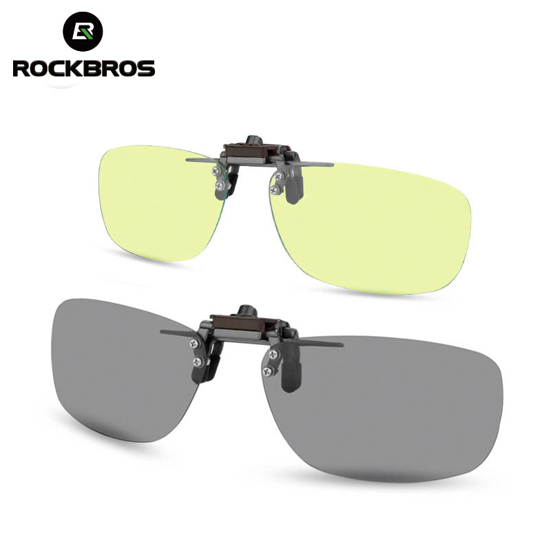 ROCKBROS Cycling Glasses Frame Bike Bicycle Polarized Glasses Myopia Driving Night Vision Lens Cycling Eyewear Blue Clip Glasses|Cycling Eyewear|   - title=