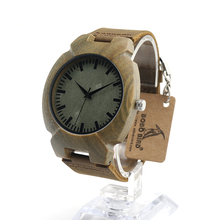 BOBO BIRD I10 I11 I12 Wooden Men's Watch Fashion Ebony Simple Design Casual Antique Clock as a Gift for Men Accepct Customize