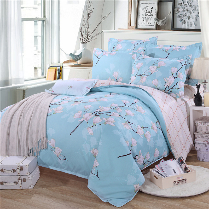 Bedding Set of autumn and winter cotton wool four sets of bedding 1.5 / 1.8m bed cotton printing four sets of bed sheets