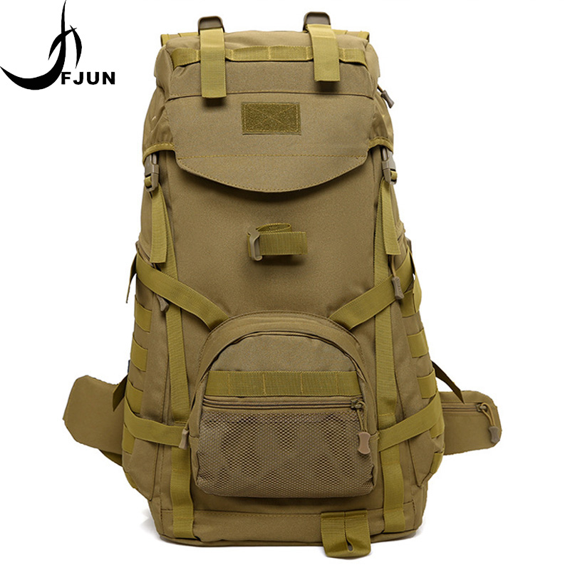 40L Nylon Waterproof Military Tactical Sport Bag Men Women Travel Hiking Camping Outdoor Mountaineering Backpack DG21 40l men women tactical military backpack camping rucksack molle bag travel outdoor sports backpacks schoolbag waterproof xa375wa