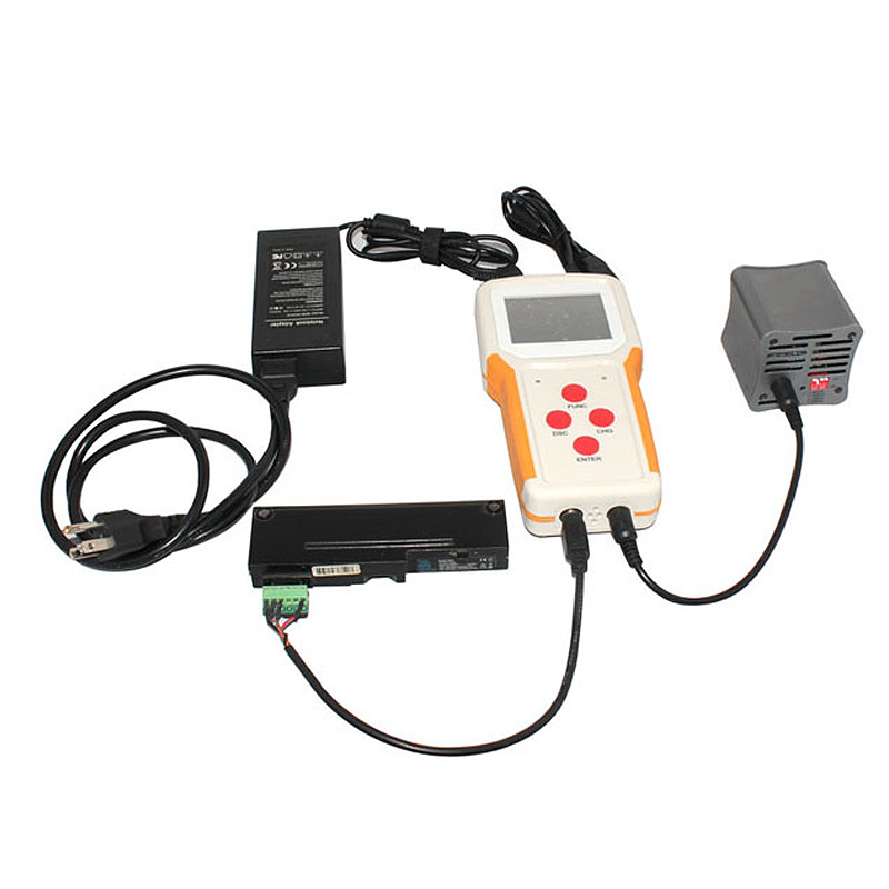 Portable external laptop battery tester RFNT2 with charge and test functions, support two channel intelligent batteries multifunction digital dual channel battery tester internal resistance tester 10 20v 0 10a charge and discharge for 18650 battery