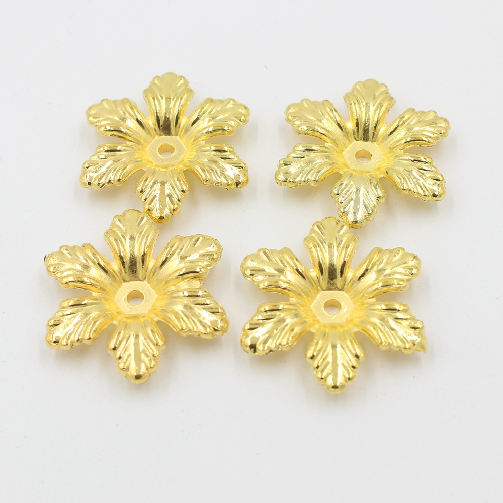 Free Shipping 25mm 50Pcs Color Gold Craft ABS Imitation Pearls Beautiful Flower Pearls Resin Scrapbook Beads For Diy