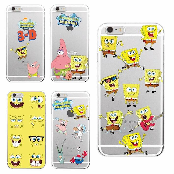 Spongebob Squarepants Patrick Star Gary Glasses Soft Clear Phone Case Cover For iPhone7Plus 7 6 6S 6Plus 5S SE 4 4S SAMSUNG
