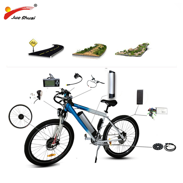20″ 24″ 26″ 700C(28″) Electric Bicycle Kit 36V10AH/12AH Kettle Battery Ebike Kit With 250W 350W 500W Front Wheel Motor bicicleta