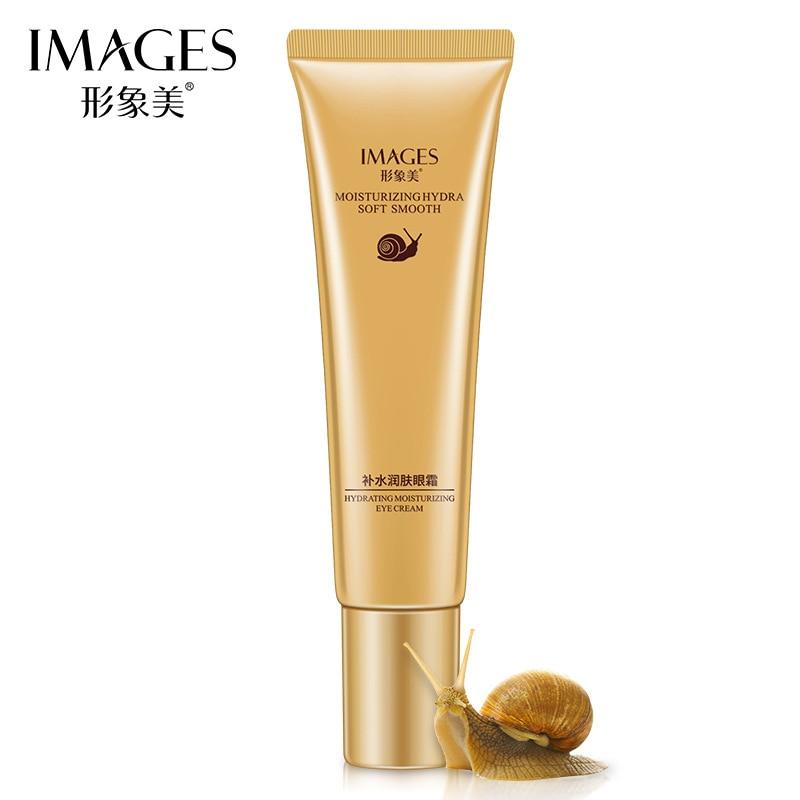 IMAGES Snail Eye Cream Whitening Moisturizing Anti-aging Wrinkle Remove Dark Circles Snail Cream Skin Care