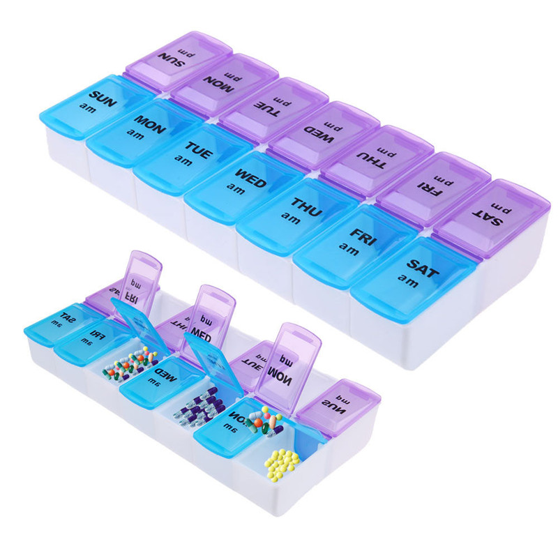 Творческий портативный медицинский набор Tablet Pill Box держатель Еженедельный Медицина хранения Организатор Коробки бункеров Контейнер Дело Г...
