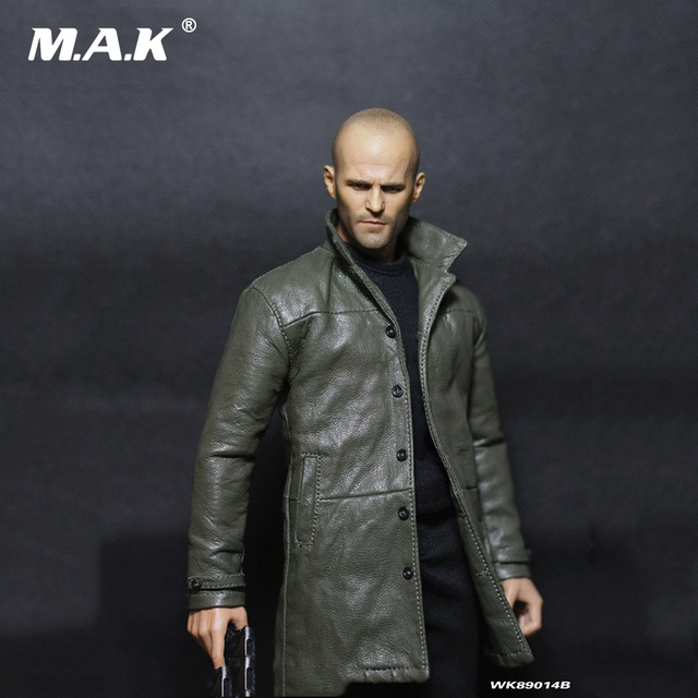In Stock 1/6 Scale WK89014B Jason Statham Head Sculpt & Clothes Accessory Set for 12 inches Action Figure Body