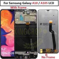 Für Samsung galaxy A10 lcd Digitizer A105/DS A105F A105FD A105M Display Touchscreen mit rahmen Digitizer Für Samsung a10 lcd