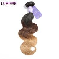 Lumiere Saç Vücut Dalga 3 Ton Ombre Brezilyalı Saç Dokuma demetleri 1B/4/27 Olmayan Remy İnsan Saç Uzantıları 3/4 satın Alabilirsiniz demetleri