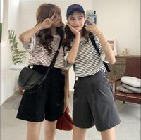 2019 new Summer Women Shorts Cotton Straight Korean version Casual Short Pants Black Gray Low Waist Female Shorts