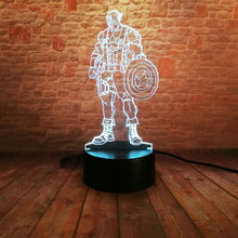 Captain America 3D light Avengers Lighting illusions 3d decor