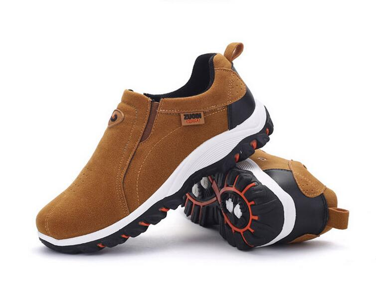 ФОТО Breathable Shoes Mens Summer Leather Walking Shoes 2017 Waterproof Outdoor Beach Size 39-47