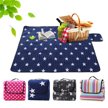 цены Outdoor Camping Mat picnic Blanket Foldable Baby Climb Plaid Blanket Waterproof Moistureproof Beach blanket For Multiplayer Mat