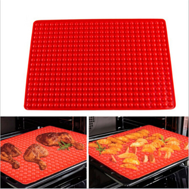 Multifunction Microwave Oven Pad Silicone Bakeware Pan Nonstick Barbecue Baking
