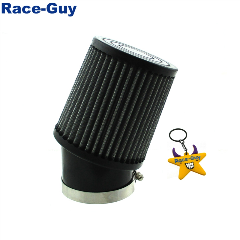 Pack of 2 OxoxO 35mm Air Filter with Bent Rubber Tube for 50cc 70cc 110cc 125cc ATV DIRT Pocket Bike
