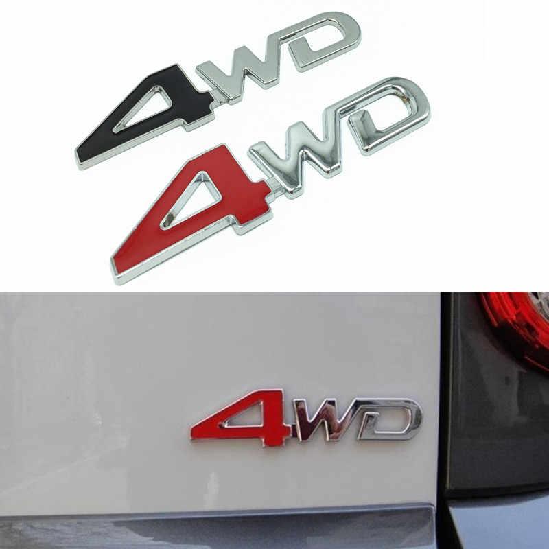 Newbee Car Styling 3D Chrome metalowe naklejki 4WD godło 4X4 odznaka dla Suzuki Grand Vitara Swift SX4 Jimny honda CRV Accord Civic