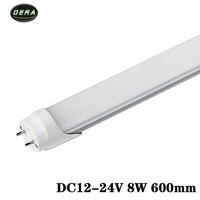 4pcs T8 2FT 600mm 8w LED Tube Light SMD 2835 Super Brightness DC12 24v Lamparas Led