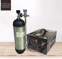 4500psi 300bar 30mpa 12v Pcp Air Compressor 12v Mini Pcp Compressor Including Transformer Vehicle high pressure air compressor