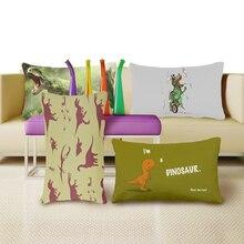 La Imagen del dinosaurio de Impresión de Lujo Home Fundas de Cojines Decorativos Dos Lados de Impresión