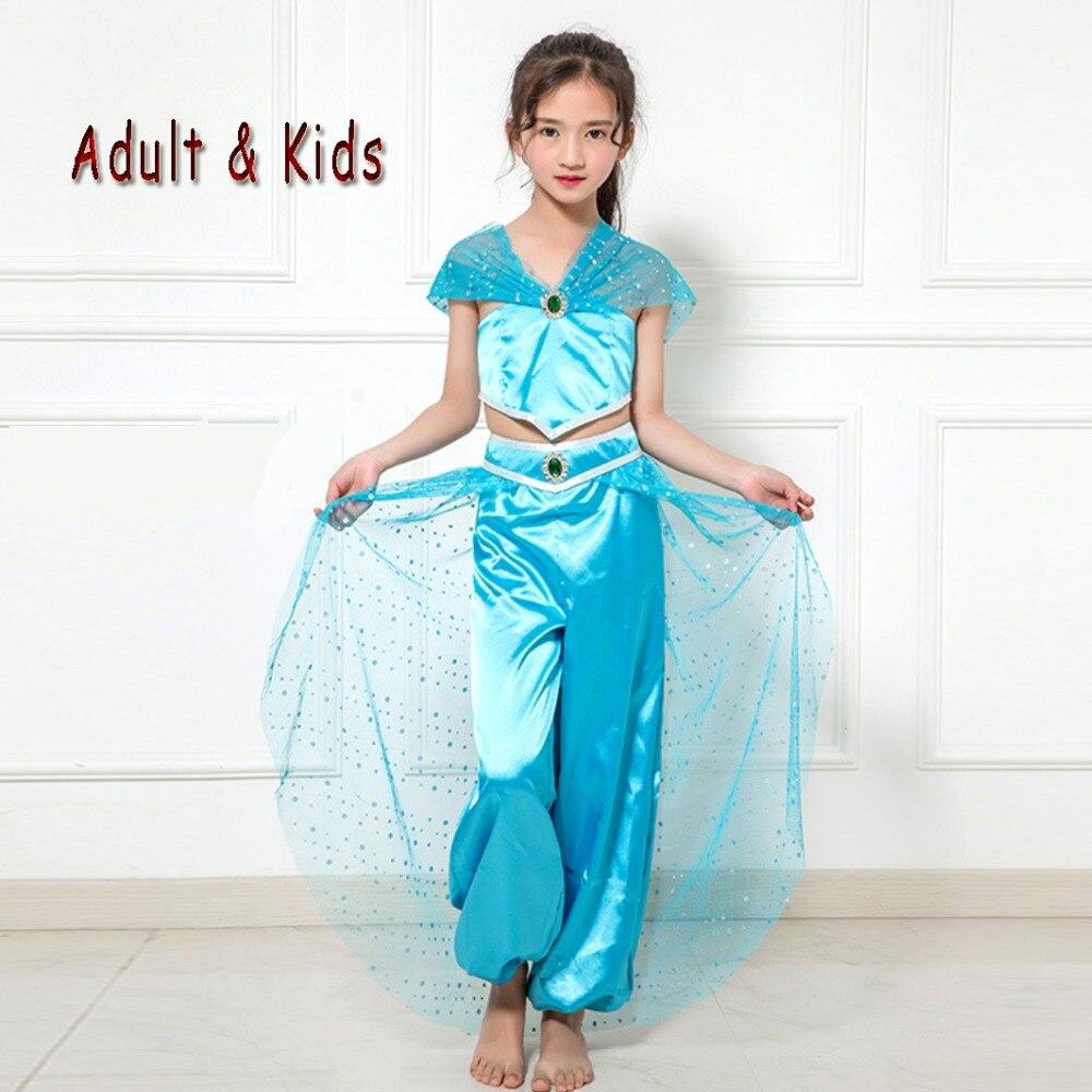 Aladdin Sexy sexy adult kids aladdin princess jasmine costume halloween