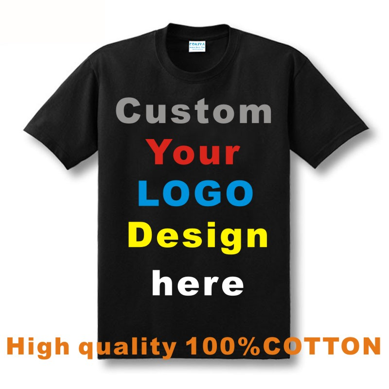 Printed personalized t shirts designer logo mens t shirt for Personal t shirt printing