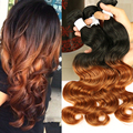 Ombre Human Hair Weave Cambodian Body Wave Virgin Hair 3 Pcs Lot,Cambodian Virgin Hair Bundles Sunny Queen Human Hair Extensions