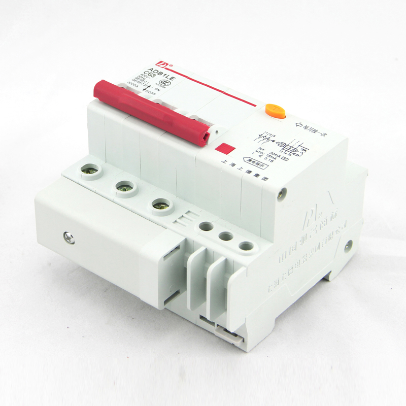 Three phase three wire electric shock switch DZ47LE 63 3P32A63A ...