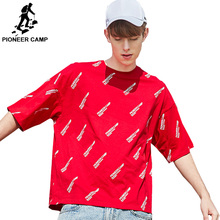 Pioneer Camp Oversized men T-shirt Fashion Short Sleeve 2019 Summer Streetwear Hip Hop T shirts Mens Tee Shirt ADT902019