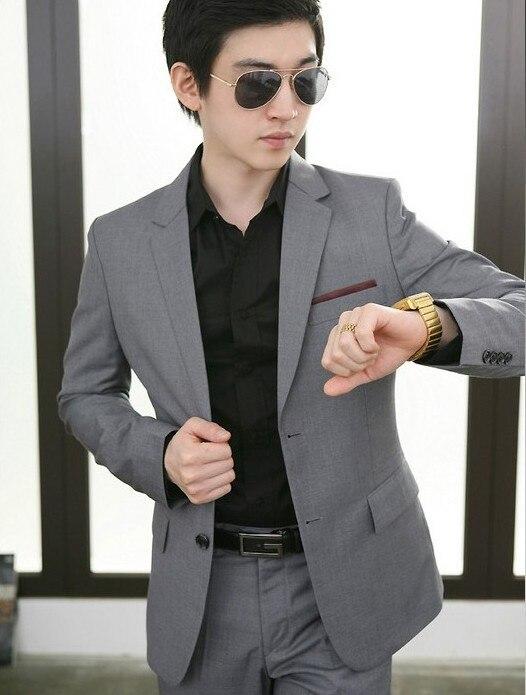Online Buy Wholesale 2 piece men grey suit from China 2 piece men