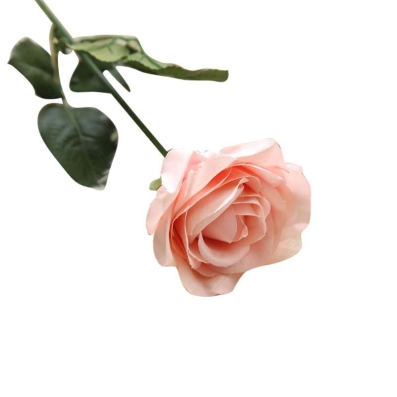 1PC Rose kunstlik lilled võltsitud lilled siidist lilled õie lateks - Pühad ja peod - Foto 3