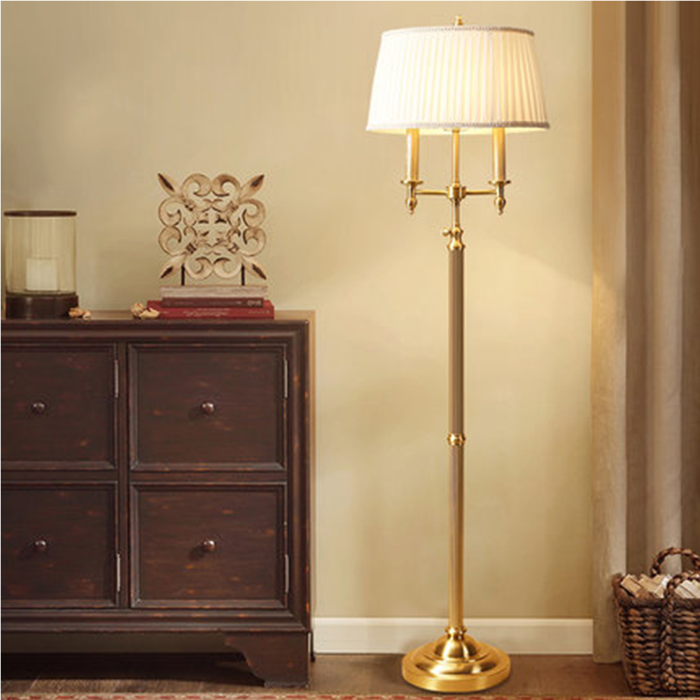 Nordic Lamp Floor LED Luminarias Pure Copper Floor Lamps for Living Room Fashion Floor Lamps Mediterranean Lamp Luminaria
