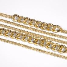 Gold Color Multi Layer Chain Necklace