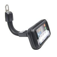 New 1Pc   Motorcycle   8mm Hole Rearview Mirror Waterproof Bag Case Mount Holder For Samsung