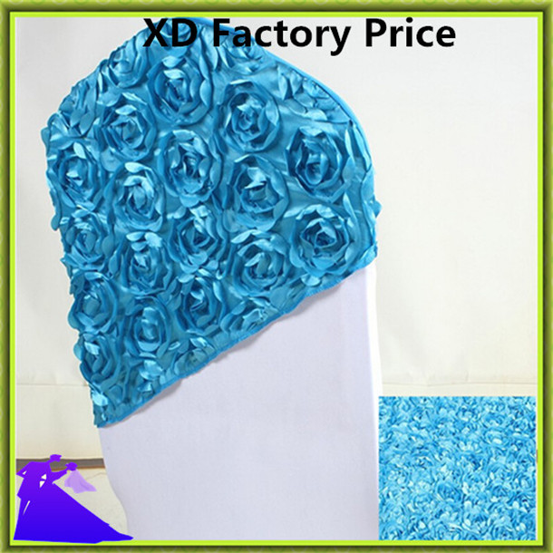 Marious Brand 50pcs rosette spandex chair hood,wedding chair hood from china decoration