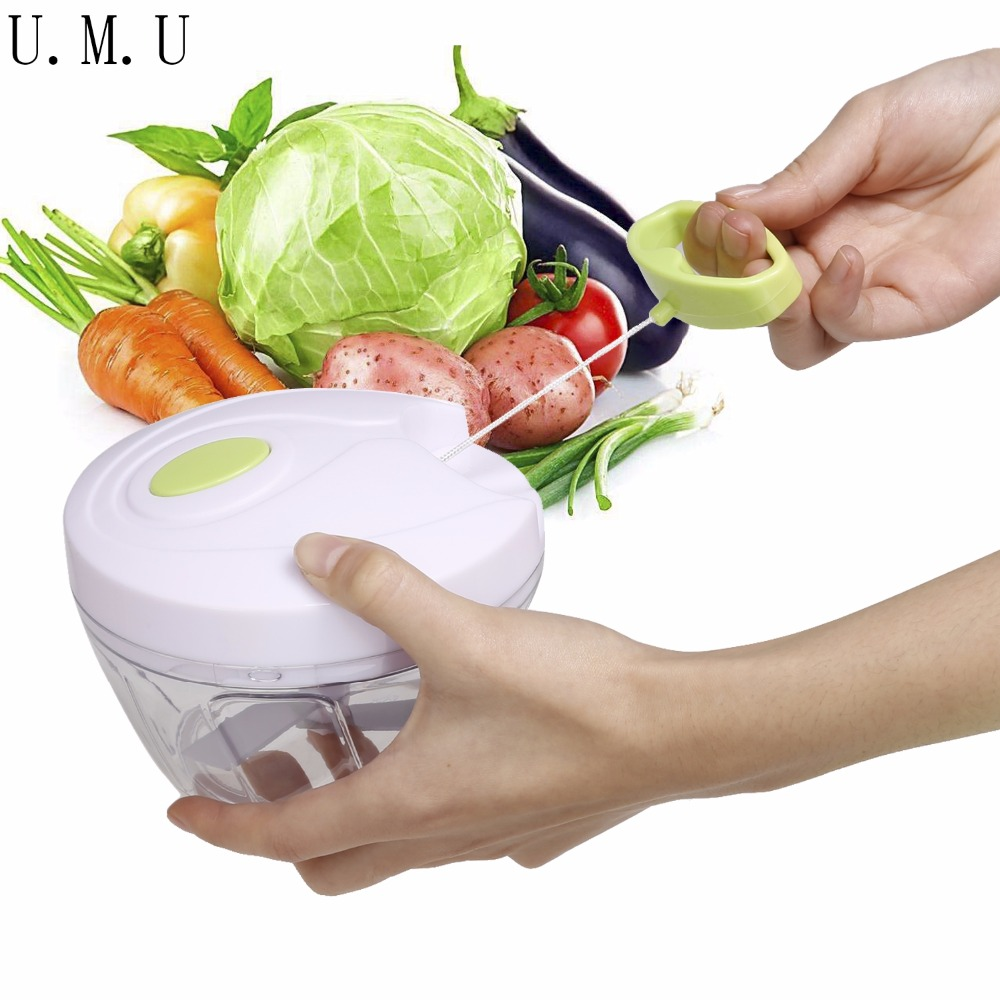 Accesorios de cocina Portátil Mini Chop Food Chopper Fruit Vegetable Slicer Cort