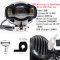 2000LM Evrensel Motosiklet farol yardımcı far lambası Moto LED Sis Farları USB şarjlı Harley Chopper Cafe Racer BMW