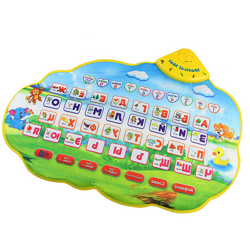 Baby Play Mat Russian Alphabet Kids Crawling Mat Music Animal Sounds Learing font b Toys b