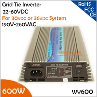 600w 15 60VDC 190 260VAC 50 60Hz Grid Micro Inverter Pure Sine Wave PV Inverter On