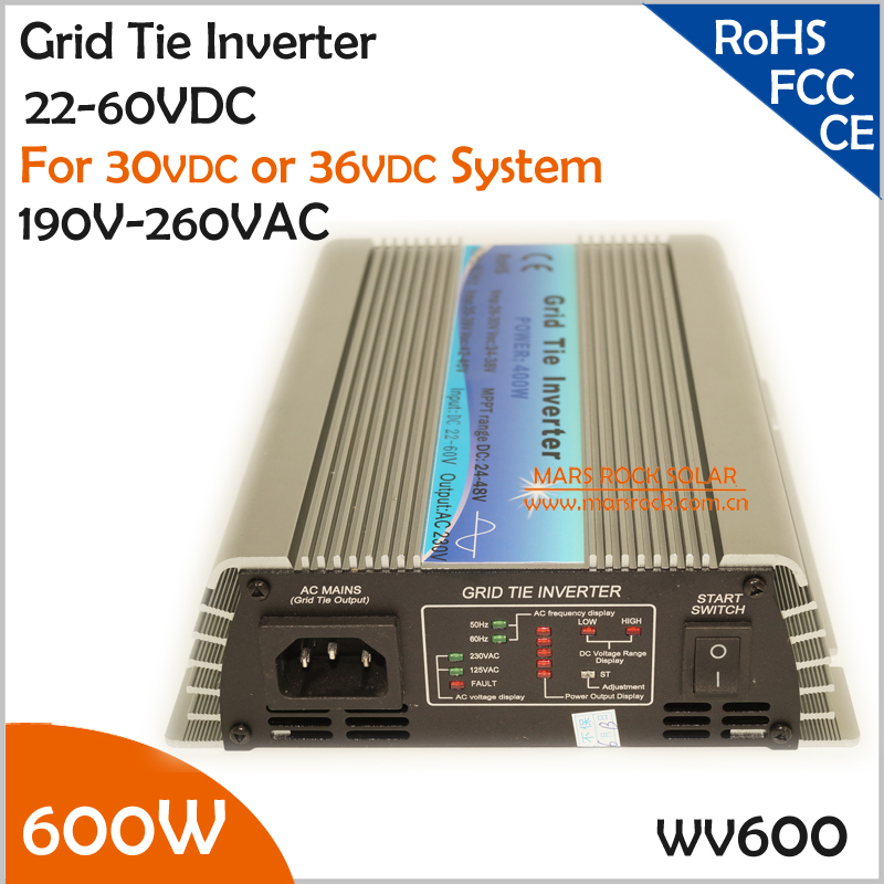 600W 22-60VDC 190-260VAC Grid Tie Micro Inverter for 700W Small Solar or Wind Power System Used at Home maylar 22 60vdc 300w dc to ac solar grid tie power inverter output 90 260vac 50hz 60hz