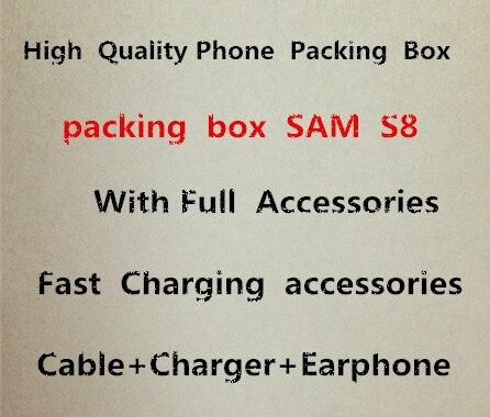 20 ensembles Haute Qualité Téléphone Emballage Emballage Boîte Cas Pour Samsung S8 Avec Pleine Charge Rapide Accessoires Paquet Boîte