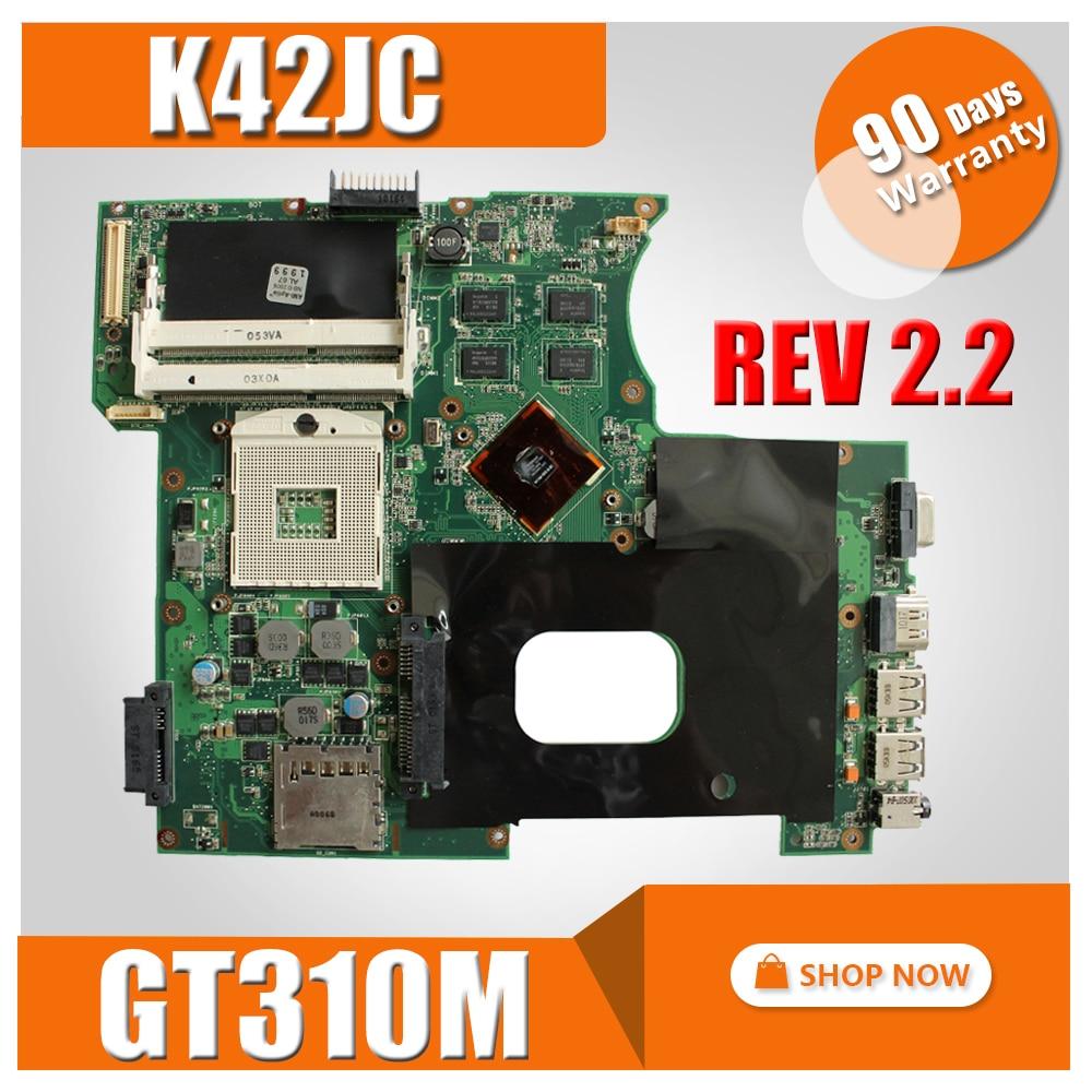 K42JC Motherboard REV: 2.2 For GT310M ASUS A42J K42J X42j A40J Laptop Motherboard K42JC Mainboard K42JC Motherboard Test 100% OK