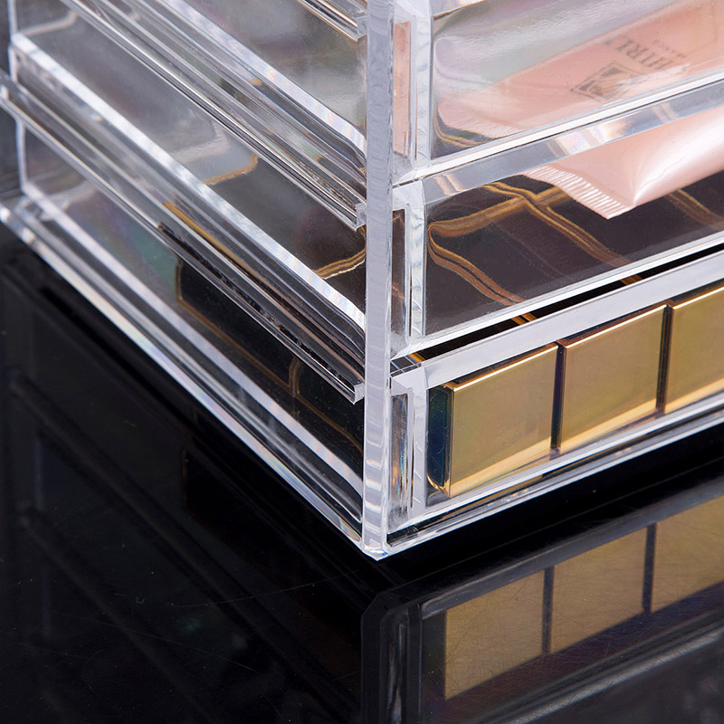 Clear Acrylic Makeup Storage Case Nail Polish Rack Lipstick Cosmetic Storage Box Holder Makeup Brush Makeup Organizer Home in Storage Boxes Bins from Home Garden