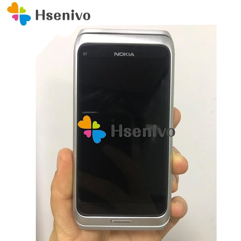 Original NOKIA E7 Mobile Phone Unlocked 3G wifi Smartphone Refurbished Touch screen Free shipping
