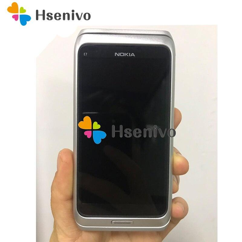 Téléphone portable d'origine NOKIA E7 débloqué 3G wifi Smartphone reconditionné écran tactile livraison gratuite