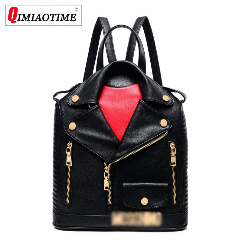 Designer New Fashion Letter Small Backpack Locomotive Backpack Lapel Leather Personality Women Bag Hip Hop Bag Women Bag