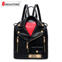 2018 Designer New Fashion Letter Small Backpack Locomotive Backpack Lapel Leather Personality Women Bag Hip Hop Bag Women Bag