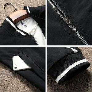 Image 5 - BOSIBIO 2019 весенне летний жакет Для мужчин куртка со стоячим воротником Модная тонкая молния пальто мужской тонкий печати бейсбольные куртки бомберы M 4XL LH 5