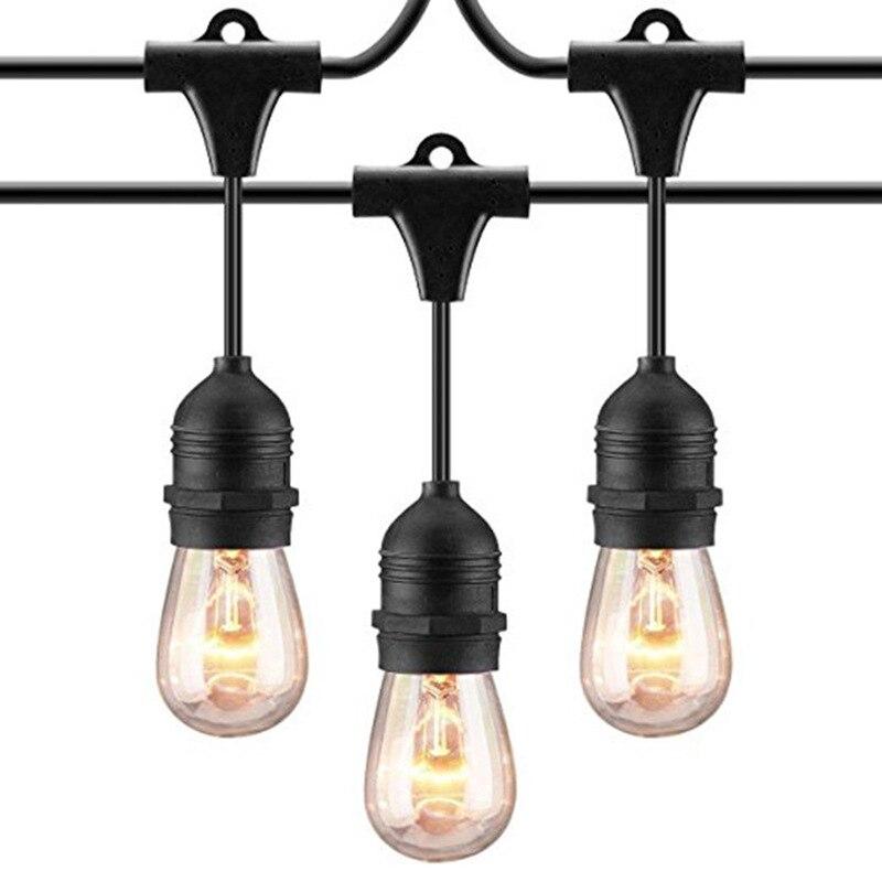 1.5m 3m 4.5m LED Waterproof E26/E27 String Lights Indoor/Outdoor Street Garden Patio Backyard Holiday Light Lamp Holder EU Plug