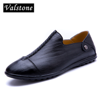Valstone 2018 Spring Genuine Leather Daily Shoes Men Bark Grain Soft Loafers Moccasin Slip On Flats